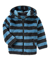 Striped Sherpa Hoodie