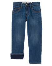 Fleece-Lined Classic Jeans