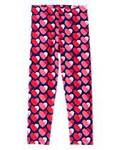 Heart Print Leggings