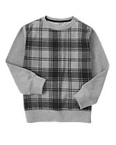 Ribbed Plaid Pullover