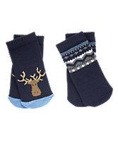 Moose & Fair Isle Socks 2-Pack