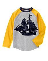 Pirate Ship Raglan Tee