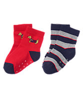 Pup & Striped Socks 2-Pack