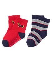 Pup & Striped Socks 2-Pack