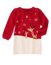 Reindeer Friends Sweater Dress