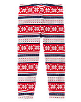 Fair Isle Print Leggings