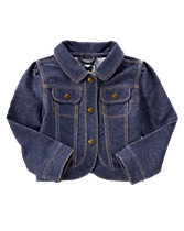 Stretch Knit Denim Jacket