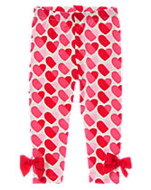 Heart Print Leggings