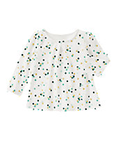 Multi-Dot Smock Top
