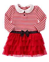 Striped Ruffle Dress
