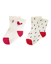 Holly & Bird Sock 2-Pack