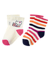 Kitten & Striped Socks 2-Pack