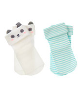 Panda & Stripe Socks 2-Pack