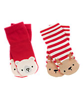 Polar Bear & Reindeer Socks 2-Pack