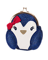 Glitter Penguin Coin Purse
