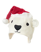 Polar Bear Santa Hat