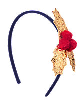 Glitter Holly Headband