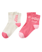 Ballet Slippers & Sweet Socks 2-Pack