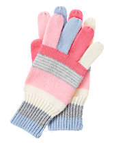 Multi-Striped Sweater Gloves
