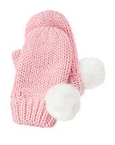Pom-Pom Sweater Mittens