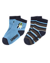 Polar Bear & Striped Socks Two-Pack