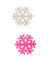 Snowflake Clips 2-Pack