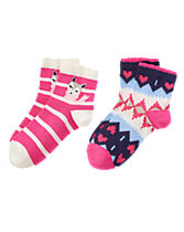 Pup & Fair Isle Socks 2-Pack