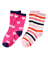 Patterned Fuzzy Socks 2-Pack
