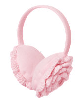 Knit Flower Ear Muffs