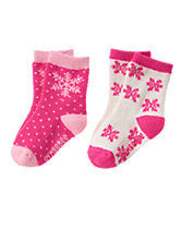 Fuzzy Snow Socks 2-Pack