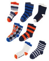 Patterned Socks 7-Pack