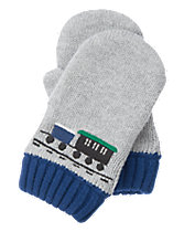 Train Sweater Mittens