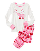 Fair Isle Deer 2-Piece Gymmies®