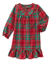 Plaid Ruffle Nightgown