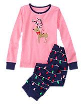 Deer & Holiday Lights 2-Piece Gymmies®