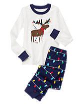 Moose & Holiday Lights 2-Piece Gymmies®