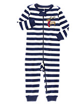 Deer Striped 1-Piece Pajamas