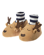 Reindeer Fleece Slippers