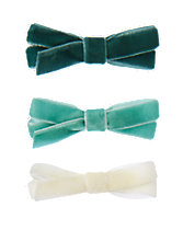 Velvet Bow Clips 3-Pack