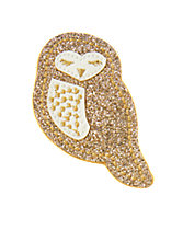 Glitter Owl Clip
