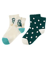 Owl & Dot Socks 2-Pack