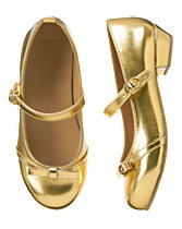 Gold Bow Patent Shoes