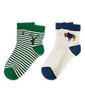 Bison & Moose Socks 2-Pack