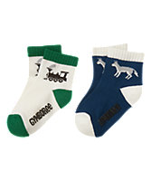 Train & Wolf Socks 2-Pack