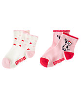 Dog & Heart Socks 2-Pack