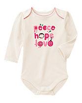 Peace Hope Love Bodysuit