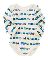 Train Print Bodysuit