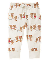 Bear Print Pull-On Pants