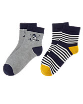 Pirate & Stripe Socks 2-Pack