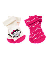 Penguin & Ribbon Socks Two-Pack